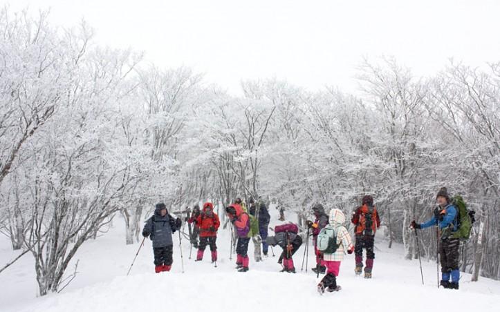 三峰山 雪景色