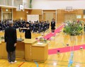 飯高中卒業式