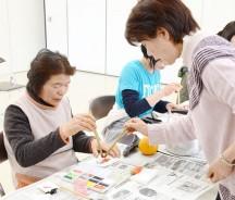 飯南で絵手紙教室