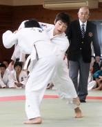 中学生柔道男子50キロ、山科君