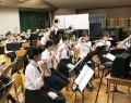 三重高吹奏楽の練習