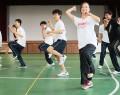 梅田さんと松工と三重でダンス