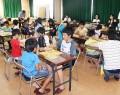 将棋教室、児童いっぱい