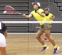 高校ソフトテニス女子プレー