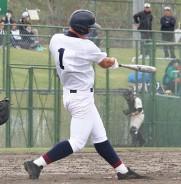 相可戦で本塁打放つ松商・藤崎選手
