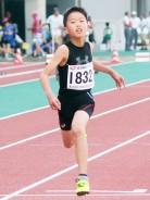 陸上・小学男子5年100m猿木君