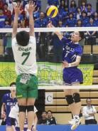高校バレー男子・松工試合