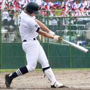 高校野球・県準決勝_土井選手本塁打