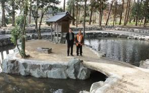 美濃田・敏太神社の池整備