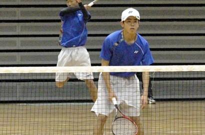 高校新人ソフトテニス・プレー