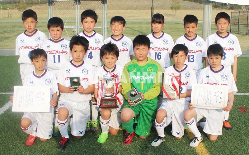 190408育松会サッカー優勝の明和