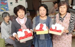 190514紅白玉を高齢者サロン作る