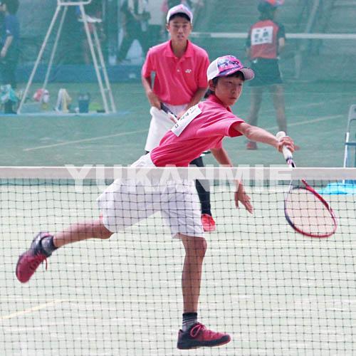 190813中学総体ソフトテニス・プレー