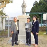 191217佐奈小の二宮像を修復
