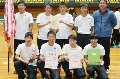 200117軟式テニス・三重高男子が東海V