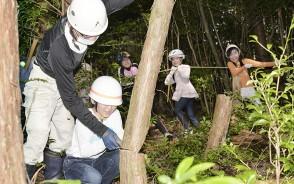 200725宮川小の間伐体験