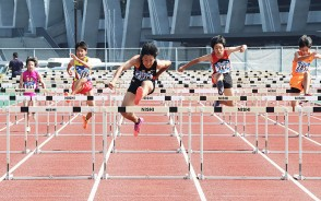 200825【陸上競技】男子110MHを制した三雲中の田中君