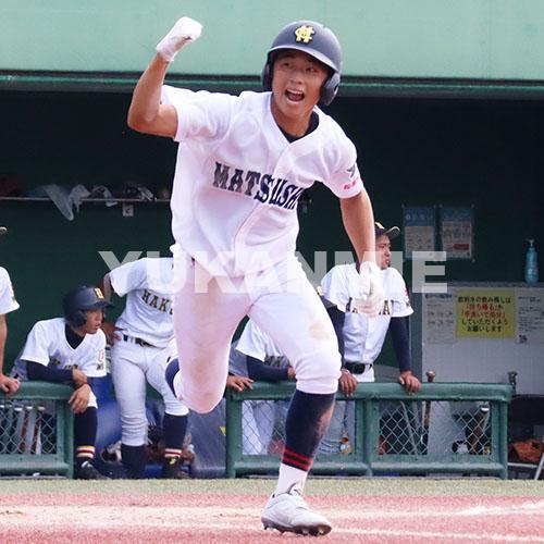 200923高校野球準決勝-松阪商の若林選手の先制適時打