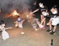 200910漕代小でナイトキャンプ