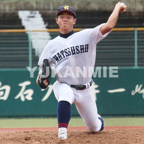 200912高校野球・松商-南伊勢_石田投手
