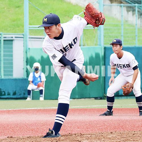200923高校野球準々決勝-三重囲み-堀田投手