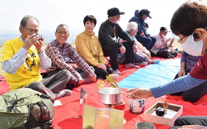 201030白米城で米寿祝い