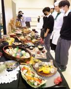 201008相可高文化祭で料理披露