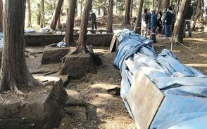 201121斎宮跡、発掘現場の公開