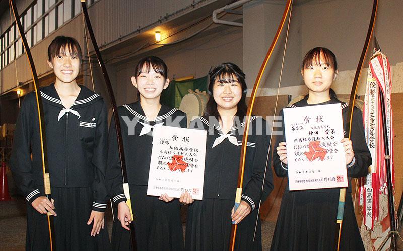 201105松高女子弓道部が県制す