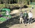 201202ミニゴルフ練習場作る