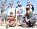 210222小野江のエゾヤマザクラ移植と看板