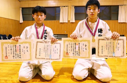 210805中学柔道で県優勝