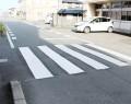 211023危険指摘で塗り直した横断歩道